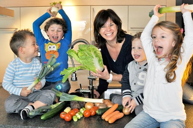Het aanrecht koken met kinderen for Beeldkoken